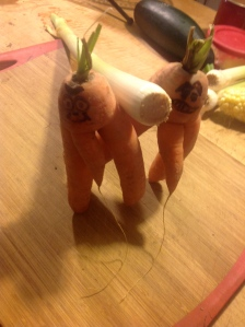 Carrots Taking a Leek