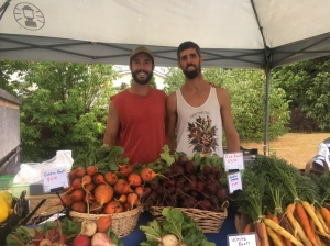 Graham and Brad at Creemore Farmer's Market